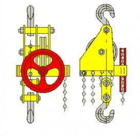 Таль ручная червячная стационарная ТРЧ 1,0 т 3 м
