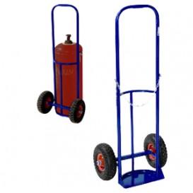 Тележка для баллонов пропан и кислород ТГК-П (2 колеса d200, 1пов. колесо d160, литая резина)