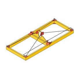 Траверса-спредер для 20-футовых и 40-футовых контейнеров